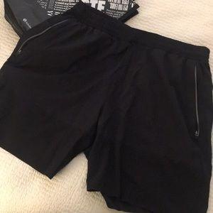 Men's L black lululemon shorts